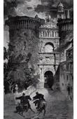 View of Naples - Triumphal Arch - Arco di Trionfo di Alfonso di Aragona - Castel Nuovo (Italy)