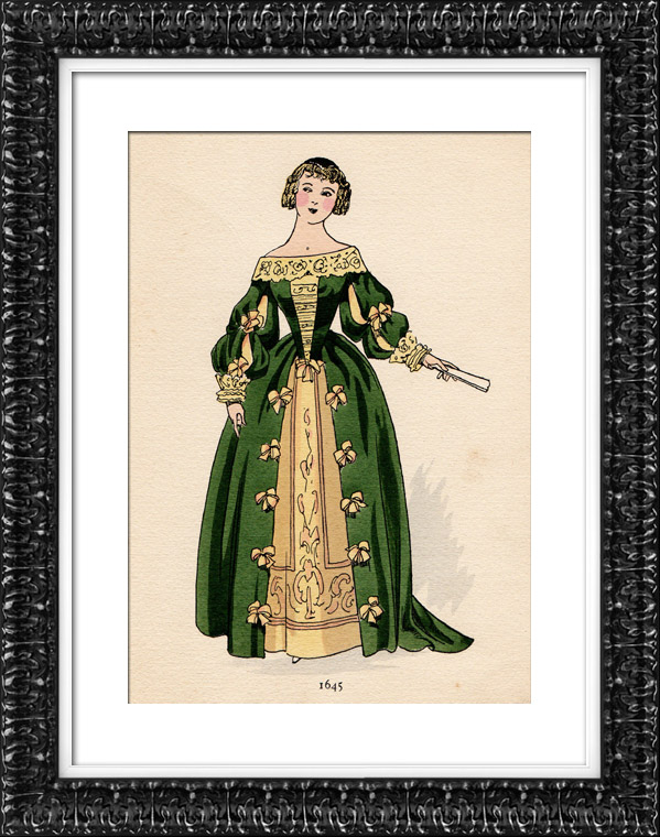 Antique Prints Fashion Plate French Mode 17th