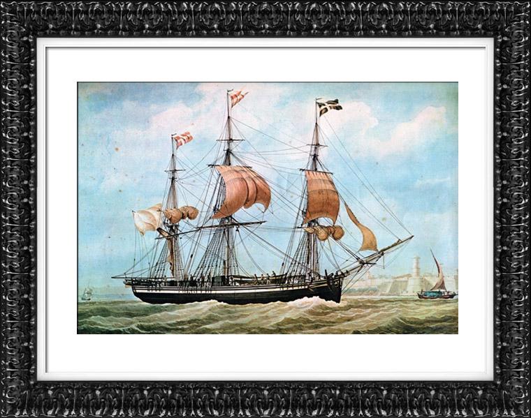 gravures anciennes bateau voilier navire trois m ts henriette au port de marseille. Black Bedroom Furniture Sets. Home Design Ideas