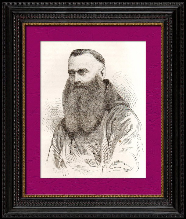 Antique Prints & Drawings | Portrait of Mgr Ludovic Taurin Cahagne (1826-1899) - Bishop - Eastern Africa  - Ethiopia | Wood engraving | 1896