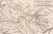 Antique Map of Senegal (Africa) - According to drawing of Catholic Missionaries