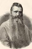 Portrait of Bishop Edouard Gasnier (1833-1896) - Apostolic Vicar - Malaysia (Asia)