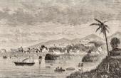 Ansicht von Freetown (Sierra Leone) - Hafen - Atlantischer Ozean - Afrika