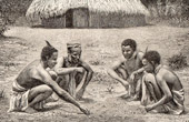 Equatorial Africa - Massanzé - Lake Tanganyika - Catholic Missionaries - Natives playing with stones