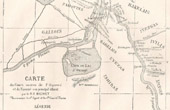 Gabon (Central Africa) - Map of Ogoou� River - Affluent Ngouni� - Catholic Missionaries
