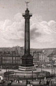 View of Paris - Place de la Bastille - Colonne de Juillet - July Column