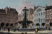 View of Paris - Fountain - Place Louvois