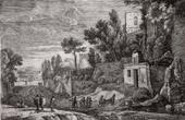 Landscape of Italy (Herman Van Swanevelt - cum privilegio Regis)