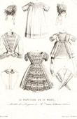 French Fashion Plate - 19th Century - 1850 - Lingerie - Le Moniteur de la Mode