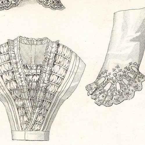 gravures anciennes gravure de mode fran aise 19 me si cle 1850 lingerie les modes. Black Bedroom Furniture Sets. Home Design Ideas