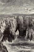Ansicht der Felsen (Wales)