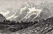 View of Karakorum in Chigar valley (Mongolia)