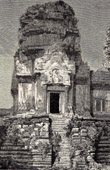 View of Ruins in Angkor - Cambodia - Old Khmer Empire