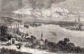 Ansicht von Donau - Danuvius