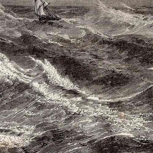 Gravures anciennes temp te naufrage bateau voilier for Grabado de cristales zona sur