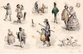 French Fashion History - Costumes of Paris - 19th Century - XIXth Century - La Foire aux Idées