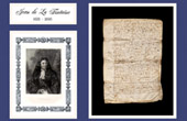 Historical Document on Parchment - Reign of Louis XIV of France - 1668 - Publication of the Fables of Jean de La Fontaine