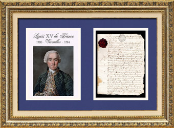 Historical Document - Reign of Louis XV of France - 1769 - Louis XV, King of France and of Navarre