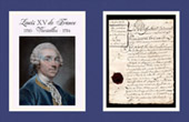 Historical Document - Reign of Louis XV of France - 1772 - Louis XV, King of France and of Navarre