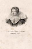 Portrait of Catherine Henriette de Balzac d'Entragues (1579-1633) - Mistress of Henri IV of France