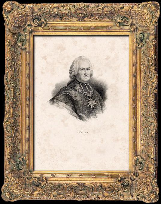 Gravures Anciennes & Dessins | Portrait de l'Abbé Joseph-Marie Terray (1715-1778) - Prêtre - Contrôleur général des finances - Louis XV de France | Lithographie | 1840