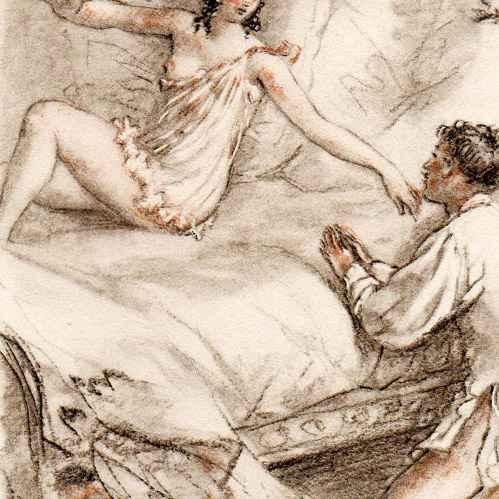 Illustration vintage erotic art Etsy