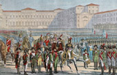 French Revolutionary Wars - Army of Italy - Italian Army in Milan in Front of the General Murat - 1800