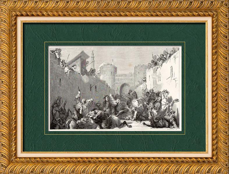 Gravures Anciennes & Dessins | Empire Ottoman - Massacre des Mamelouks - Le Caire - Egypte (1811) | Gravure sur bois | 1860