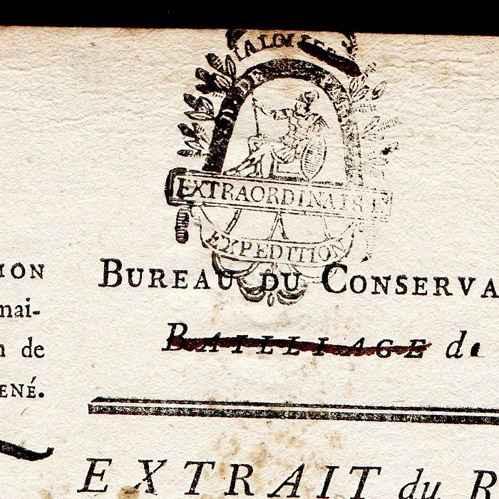 Documento hist rico revolu o francesa 1793 - Bureau des hypotheques de paris ...