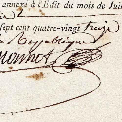 Document historique r volution fran aise 1793 - Bureau des hypotheques de paris ...