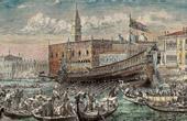 View of Venice - Gondola - Bucentaur - Veneto (Italy)