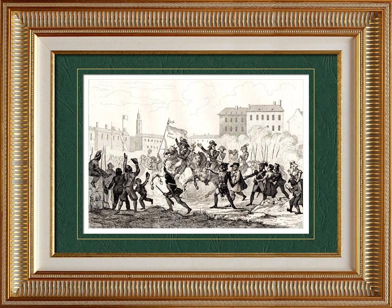 Gravures Anciennes & Dessins | Guerre de Vendée - Guerres de la Révolution Française - François de Charette | Taille-douce | 1838