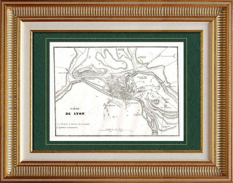 Gravures Anciennes & Dessins   Guerres de la Révolution Française - Soulèvement de Lyon contre la Convention nationale (1793)   Taille-douce   1838