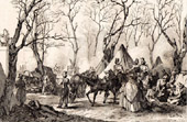 Camping of the Cossacks and the English Troops on the Champs-Elys�es in Paris (1815)