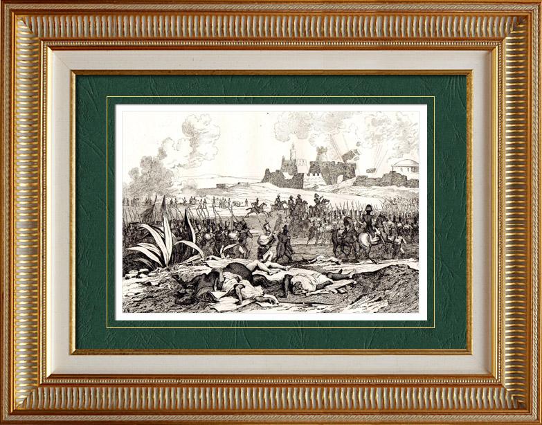 Antique Prints & Drawings   (Algeria) - Assault of Algieria (1830) - French conquest of Algeria   Intaglio print   1838