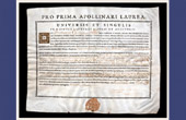 Antique Diploma in Medicine on Parchment - Reign of Louis XV of France - 1742 - Fran�ois Chicoyneau - PRO PRIMA APOLLINARI LAUREA