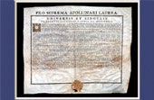 Antique Diploma in Medicine on Parchment - Reign of Louis XV of France - 1743 - Fran�ois Chicoyneau - PRO SUPREMA APOLLINARI LAUREA