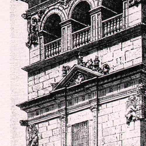 Grabados antiguos salamanca espa a vista del palacio - Tapiceros en salamanca ...