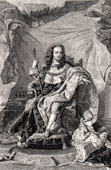 Portrait of Louis XV of France (1710-1774) - Crowned in Reims Cathedral in 1722