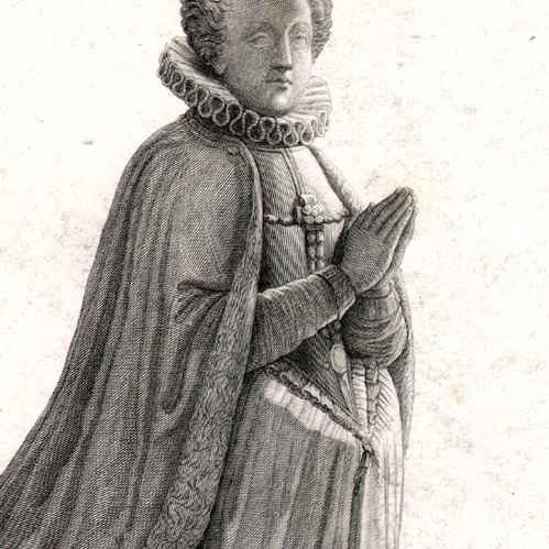 gravures anciennes portrait de catherine de nogaret de la valette 1587 epouse de henri. Black Bedroom Furniture Sets. Home Design Ideas