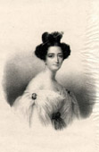 Portrait of Maria de las Mercedes de Santa Cruz - Condesa de Merlin - Cuban Nobility