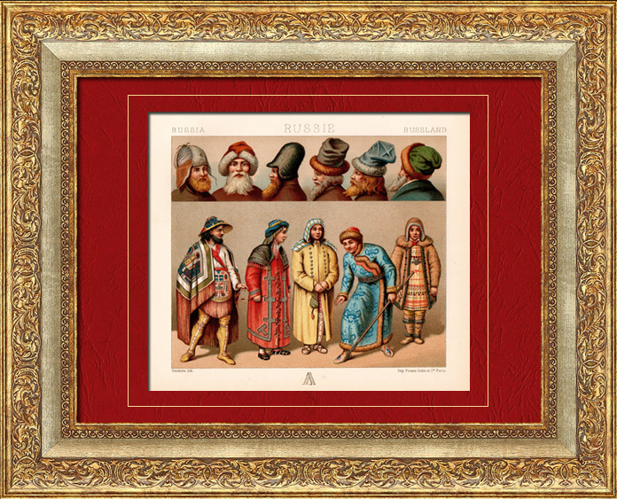 Antique Prints & Drawings | Traditional Costume - Russian | Chromolithography | 1880