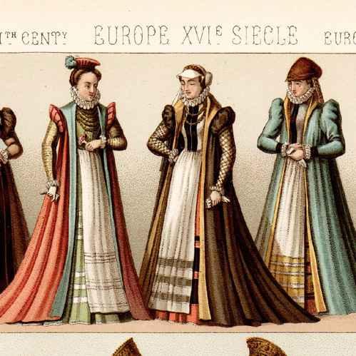 Antique Prints Traditional Costume Mode Fashion