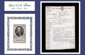 Historical Document - Reign of Louis XV of France - 1768 - Deserter - Official Report of the Infantry