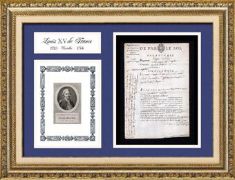 Historisches Dokument - Herrschaft von Ludwig XV von Frankreich - 1768 - Deserteur - Infanterie des K�niges
