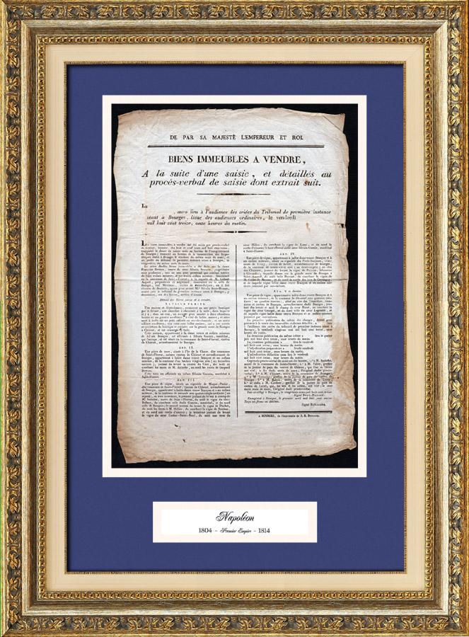 Historisches Dokument - Herrschaft von Kaiser Napoleon I - 1813 - Erste Franz�sische Kaiserreich