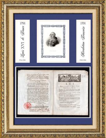 Historisches Dokument - Franz�sischen Revolution - 1791 - Dekret der Assembl�e Nationale