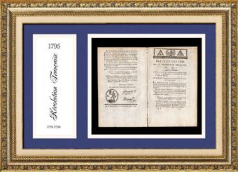 Historisches Dokument - Franz�sischen Revolution - 1795 - Gesetz des Nationalkonvents