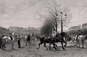 Pintura - Exposici�n 1888 - Edmond Georges Grandjean (1844-1908) - March� aux Chevaux de Paris