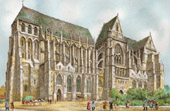 View of Saint-Quentin - Picardy (France) - The Basilica